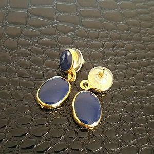 Jewelry - Navy drop earrings
